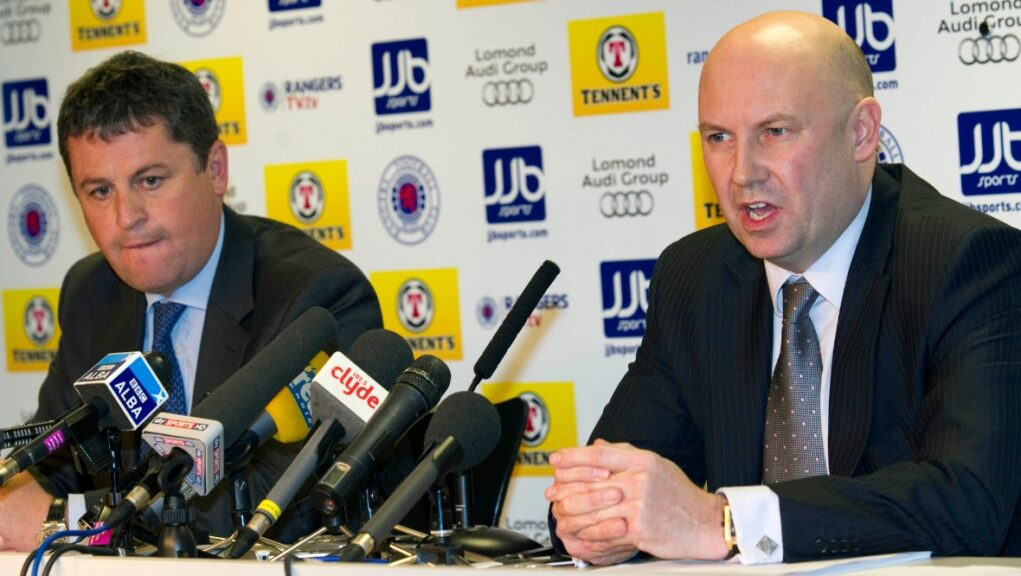 David Whitehouse and Paul Clark were brought in as administrators at Rangers in February 2012.