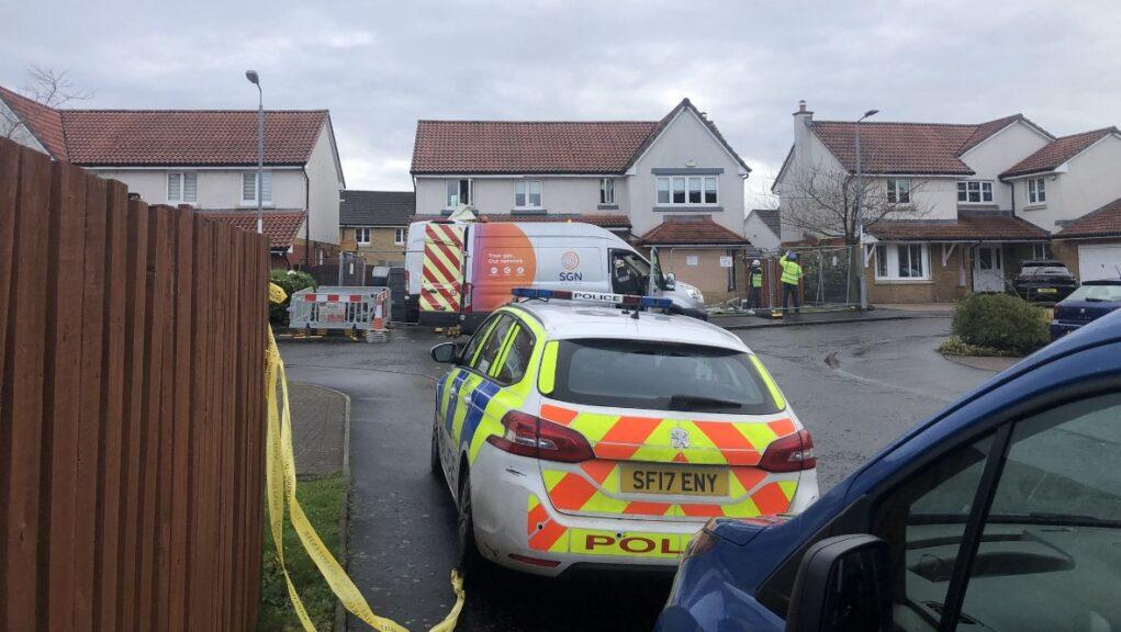 Blast: Two people taken to hospital.