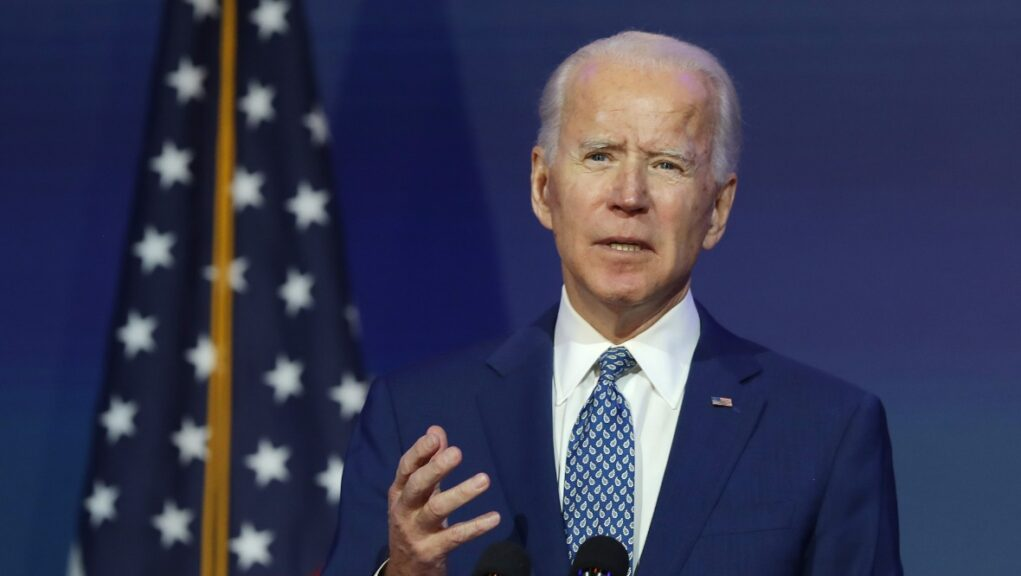 President-elect: Joe Biden invited to COP26 in Glasgow next November.