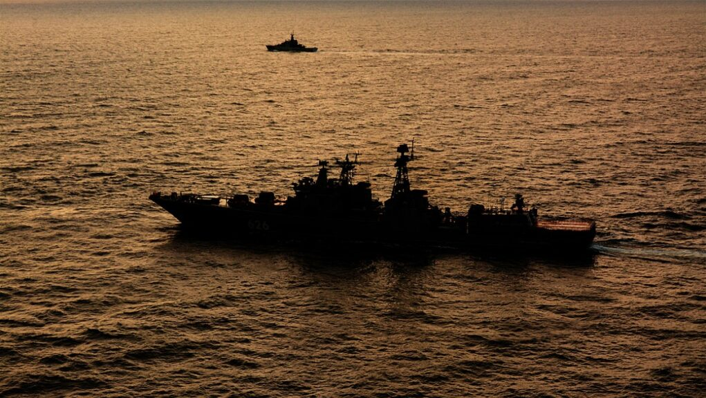 Patrol ship HMS Tyne shadowed the Russian vessels.