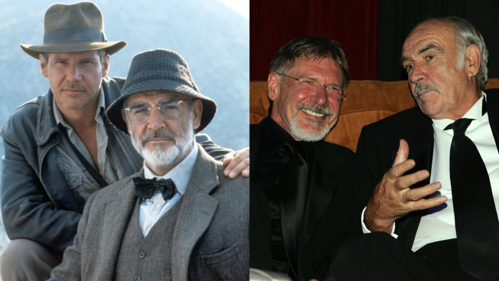 Stars: Hollywood legends Harrison Ford and Sir Sean Connery.