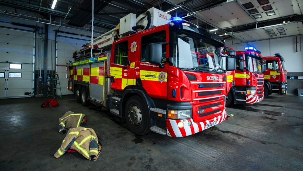Fire: Emergency services were alerted to the caravan blaze on Wednesday morning.
