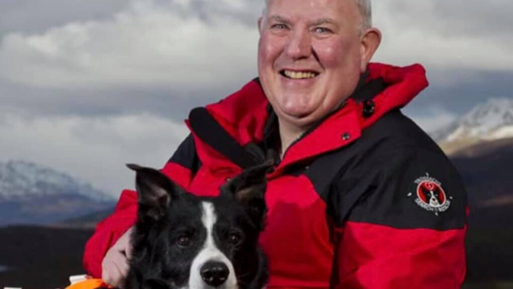 Stuart Ballantyne searched the pub for survivors with rescue dogs.
