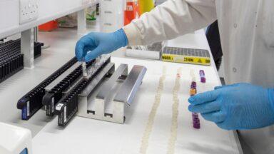 Coronavirus test lab Glasgow