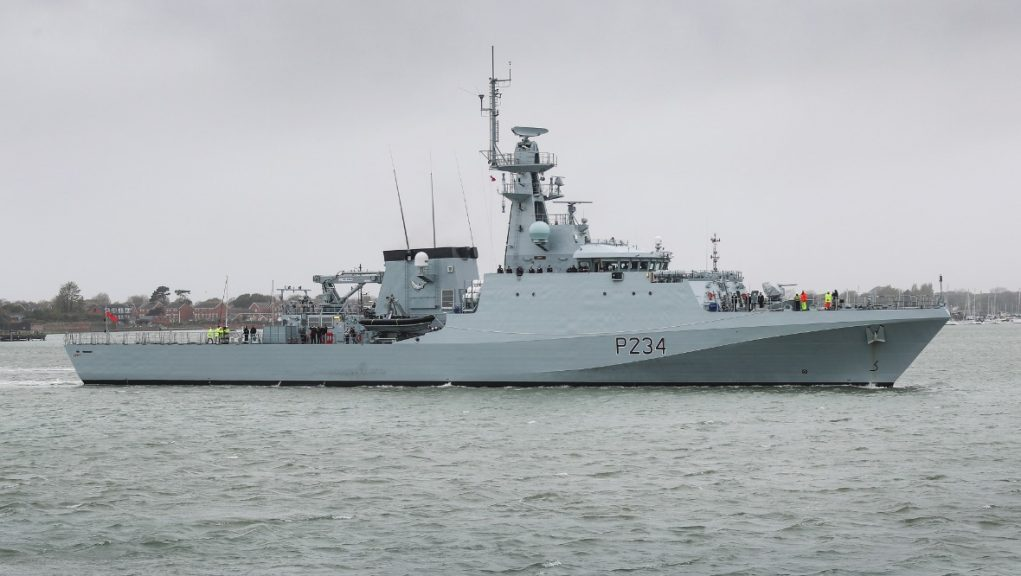 Armed vessels are on standby as Brexit transition period nears an end.