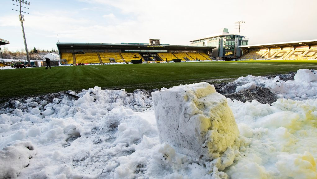 Livi's match against Aberdeen was called off after freezing weather.