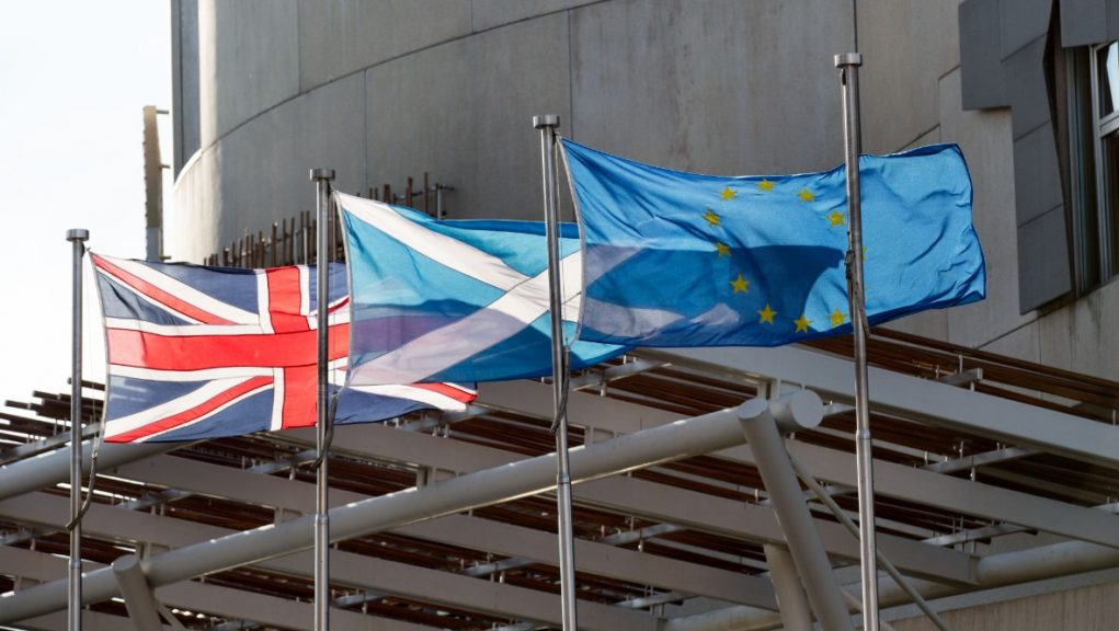 Brexit debate is taking place at Holyrood.