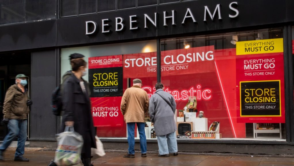 Retail giant Debenhams is on the brink of collapse.