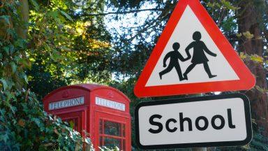 School road sign.