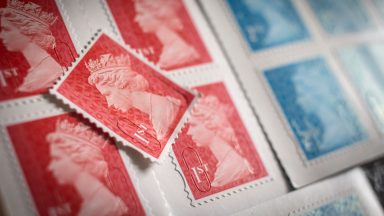 Royal Mail stamps.