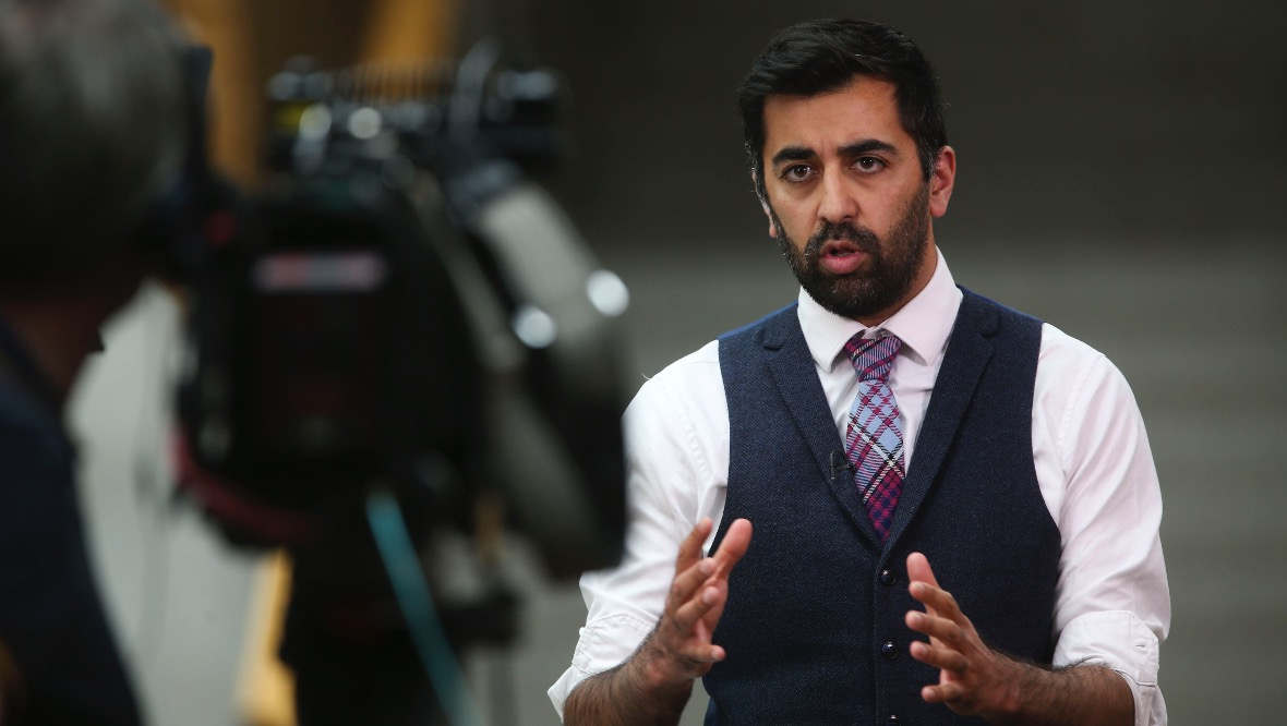 EDINBURGH, SCOTLAND - JUNE 3: Cabinet Secretary for Justice, Humza Yousaf MS speaks to media at the Scottish Parliament at Holyrood on June 3, 2020 in Edinburgh, Scotland. (Photo by Fraser Bremner-Pool/Getty Images)