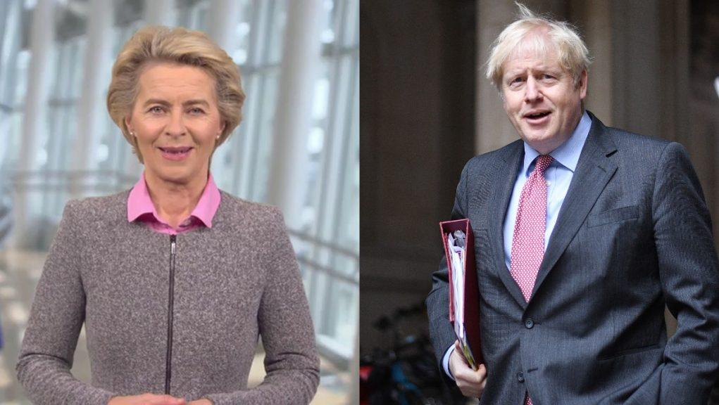 EU Commission President Ursula von der Leyen and UK PM Boris Johnson will meet in Brussels.