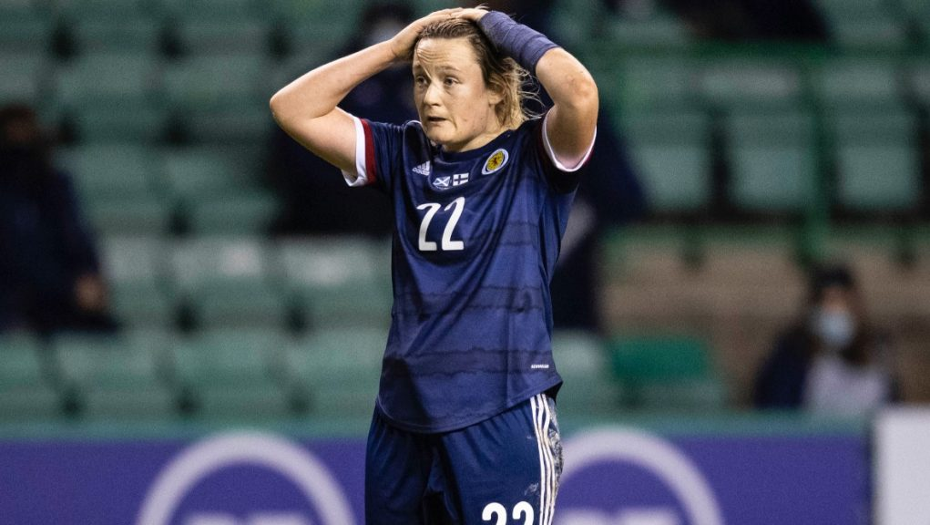 Devastated: Scotland will not be playing at the UEFA Women's Championship.