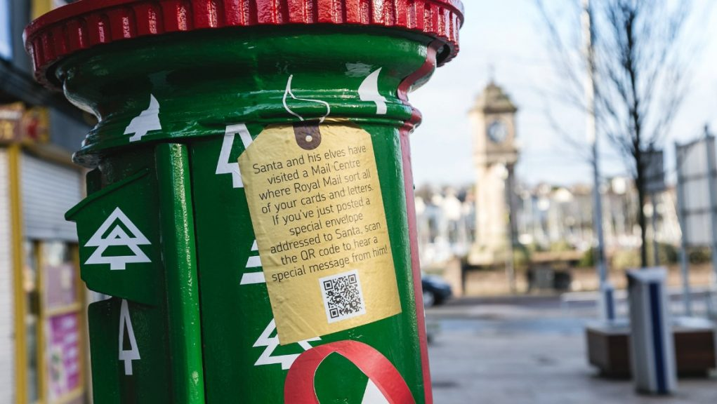 The only festive postbox in Scotland is located in Aberdeen.