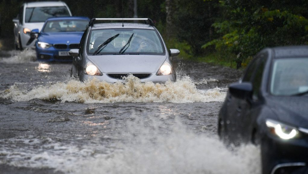 Warning that roads could be flooded in the north-east.