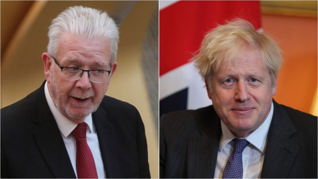 Mike Russell urged Boris Johnson to ensure a no-deal Brexit is 'taken off the table'.