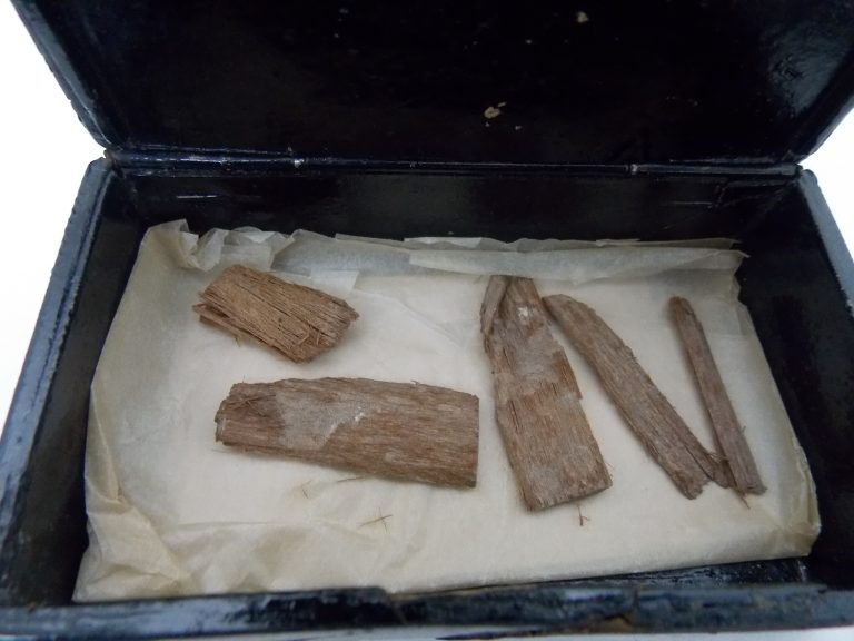 Discovery: The fragment of wood is now in several pieces.