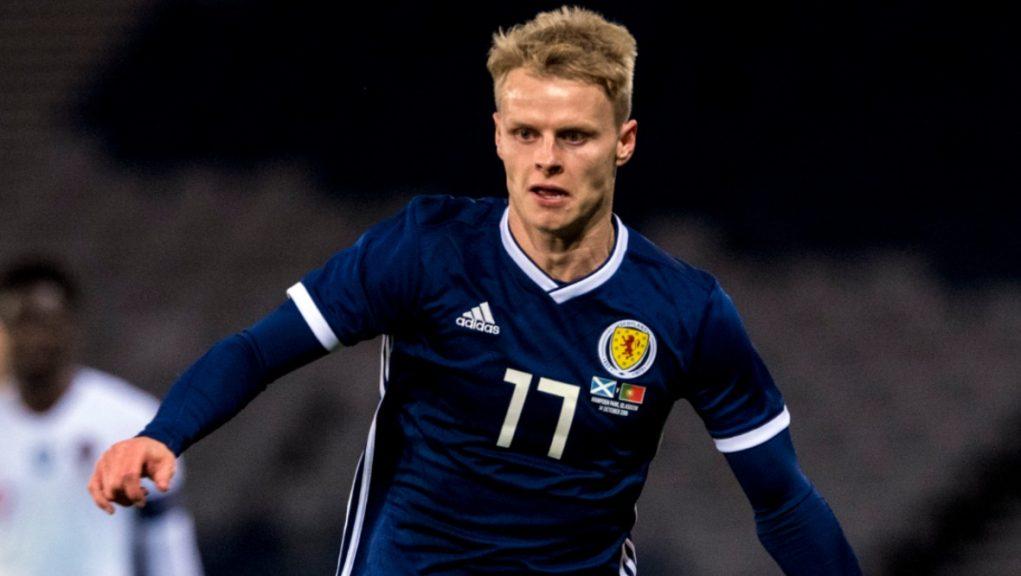 Mackay-Steven in action for Scotland.