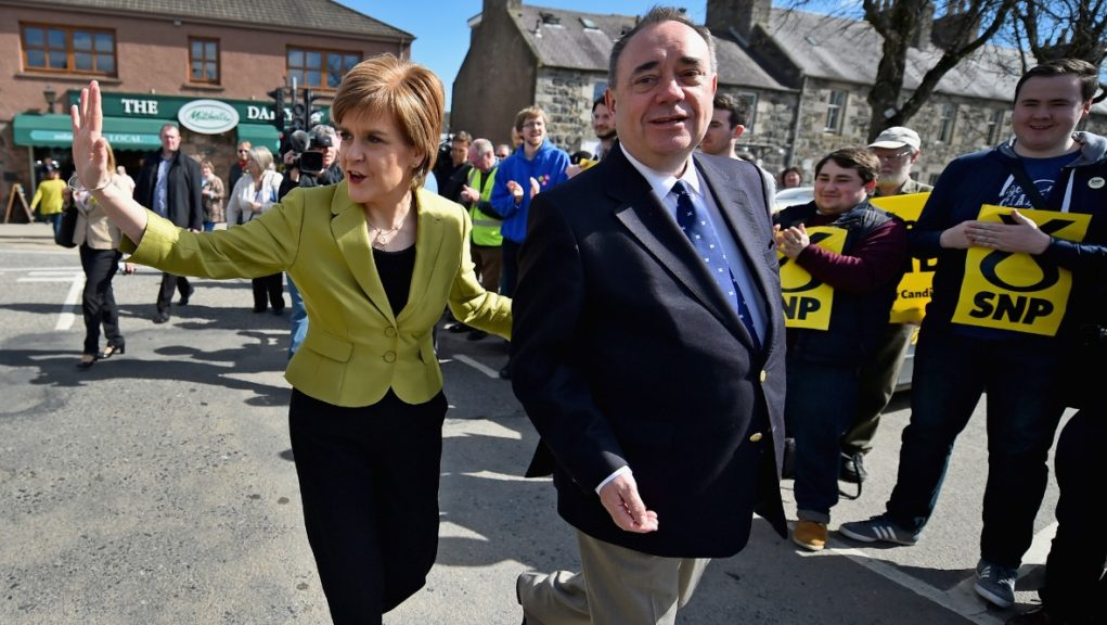 Sturgeon: First Minister with Alex Salmond.