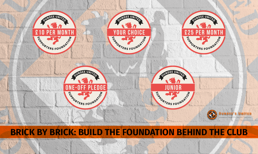 Dundee United Football Club will receive £100k from the Supporters' Foundation.