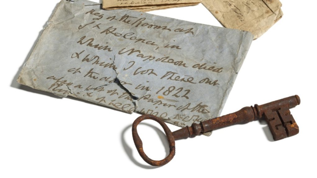 Key to Napoleon's prison bedroom sold at auction for £81,900.