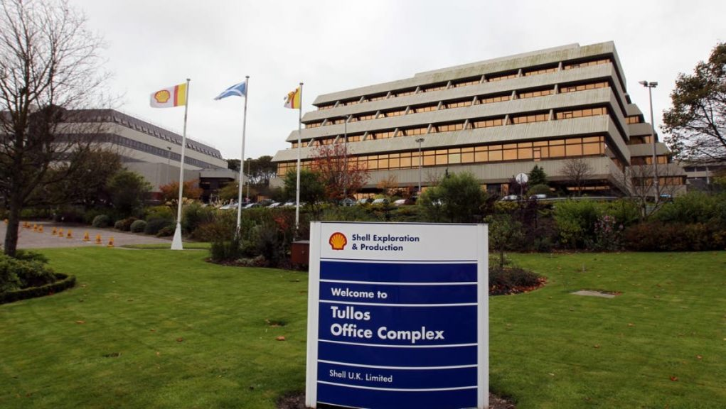 Shell: The firm is to cut 330 jobs from its North Sea operations.