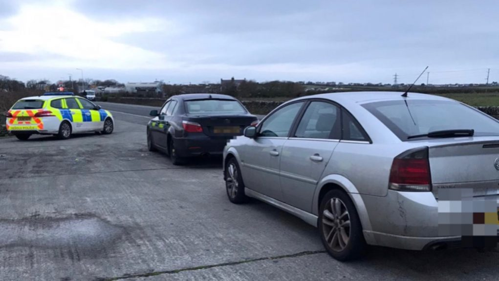 Wales: Police claim the drivers broke lockdown rules.