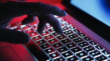 Cyber crime, laptop, computer.