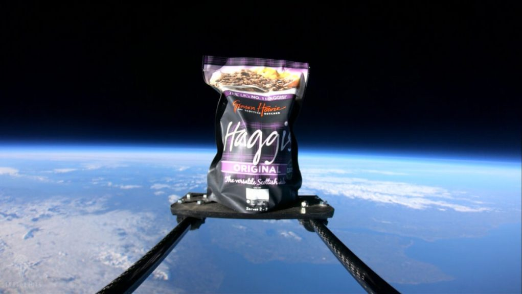 Haggis: Scottish butcher Simon Howie worked with space education and research firm Stratonauts.