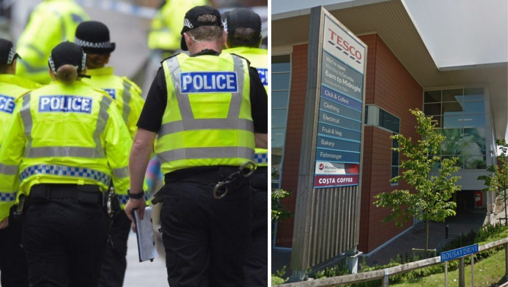 Police are investigating the circumstances of a man's death in a Tesco car park.