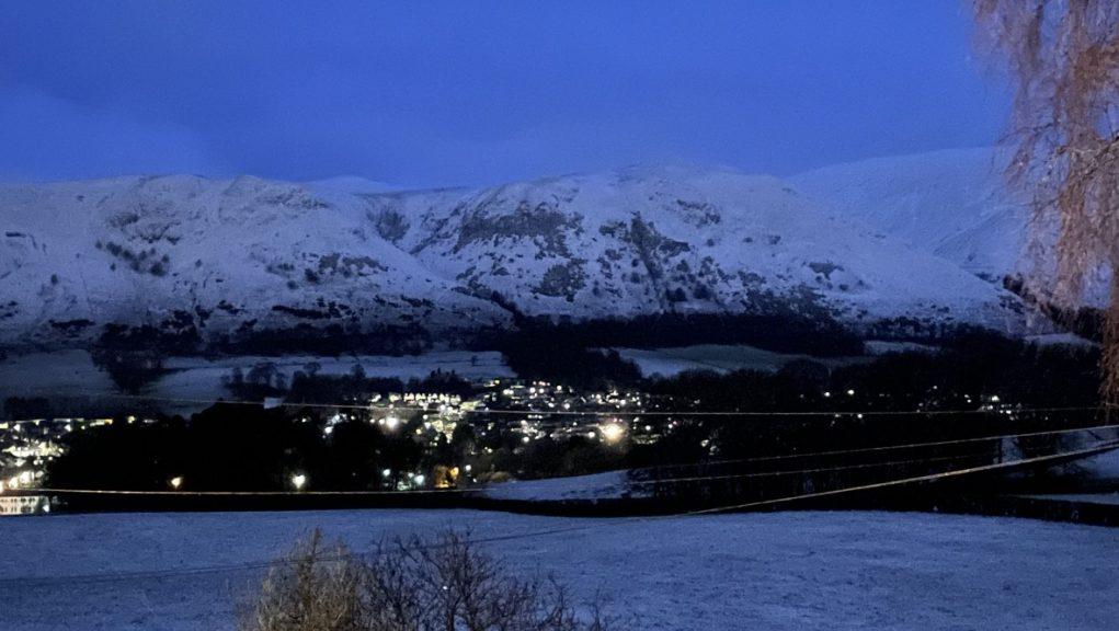 Clackmannanshire: The Ochil Hills on Thursday morning.