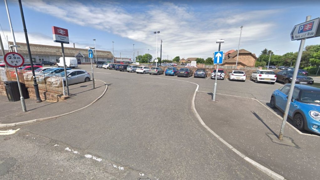 Boy was hit by train at Prestwick Town railway station.