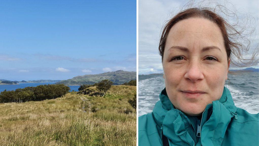 Alison Winter, 41, became stranded on Shuna.