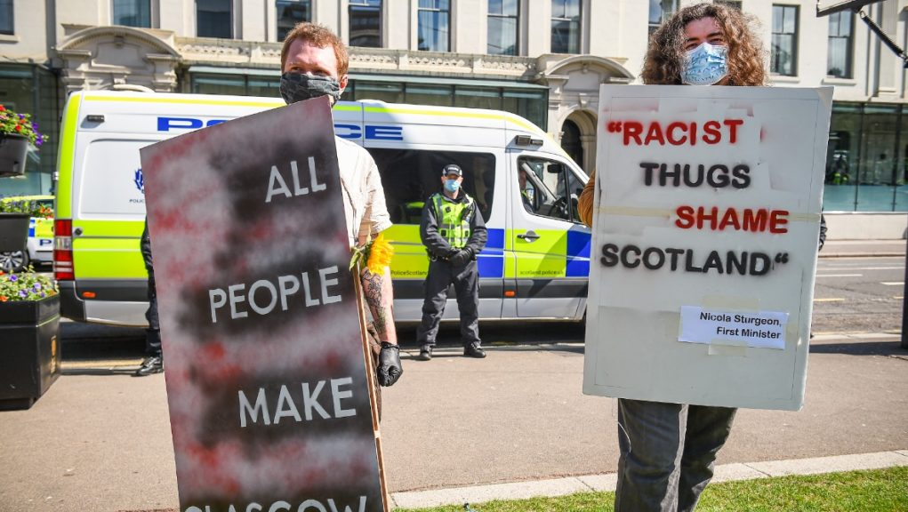 Anti-racism protests took place in Glasgow last summer.