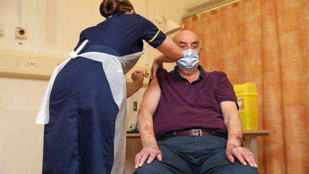 Vaccine: First Oxford AstraZenca vaccine administered.