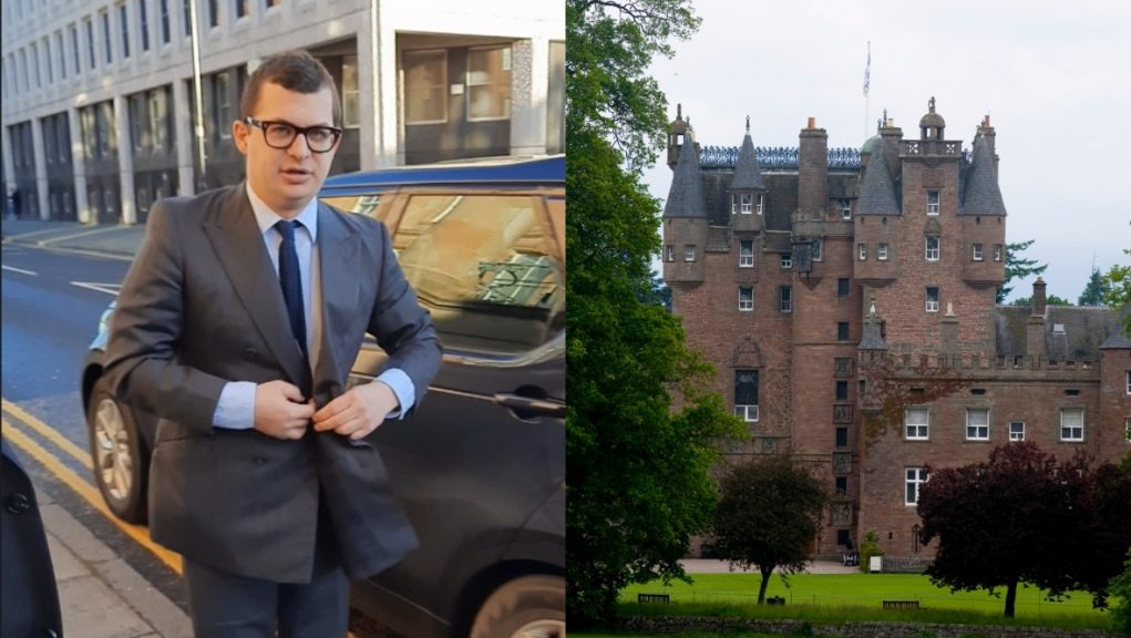Bowes-Lyon is due to be sentenced over the Glamis Castle