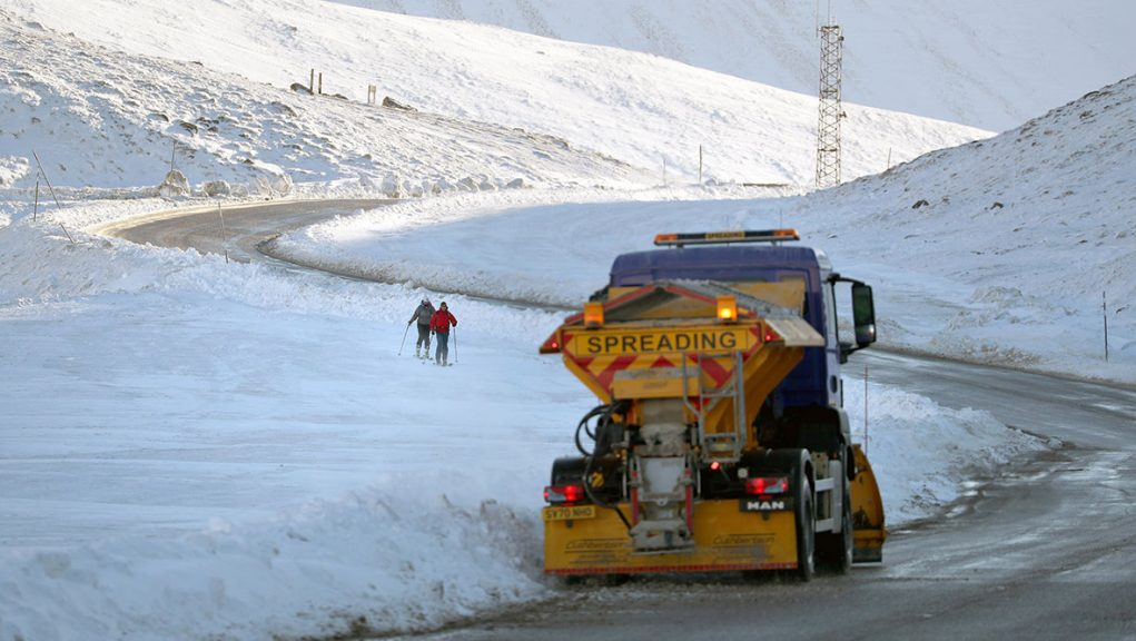Scotland's named gritters have been deployed across the country.