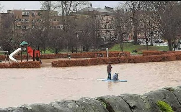 The River Eden in Cupar burst its banks after heavy rain earlier this month.