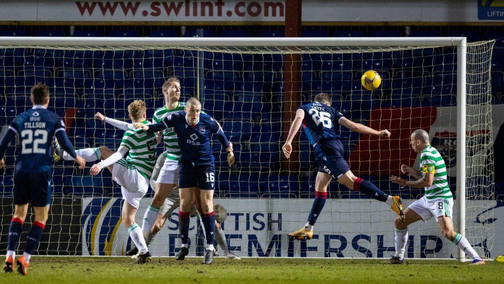 Jordan White scored the only goal of the game in Dingwall.