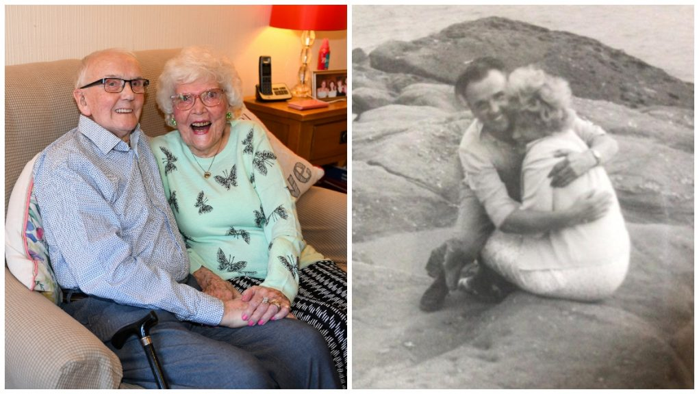 Love: Couple only have eyes for each other 75 years on.