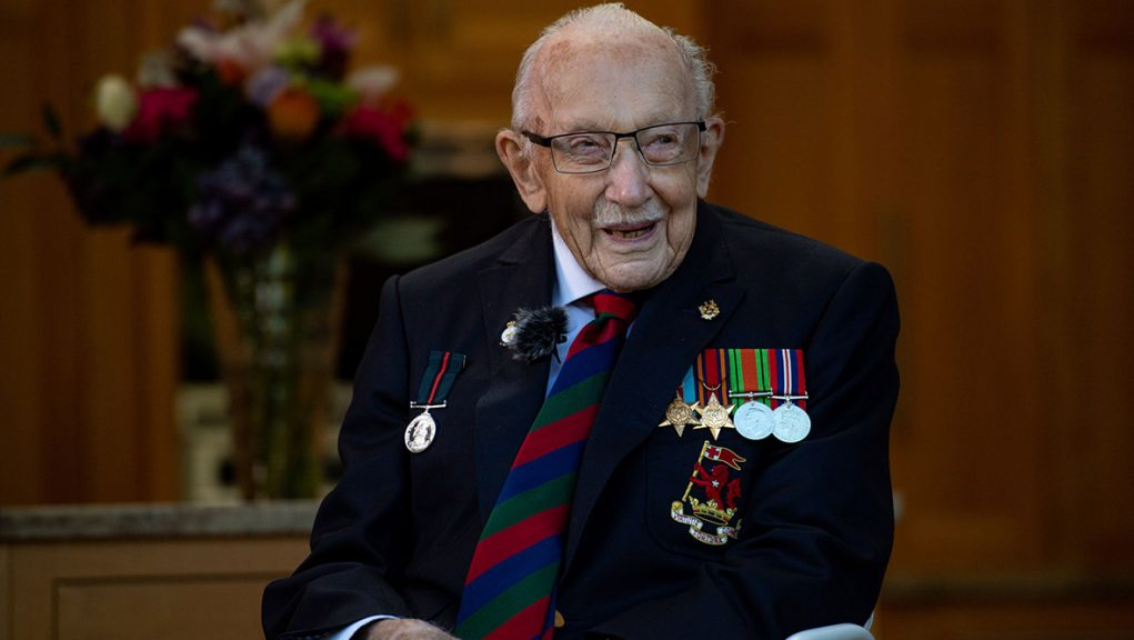 Captain Sir Tom Moore died earlier this month aged 100 after testing postive for Covid-19.