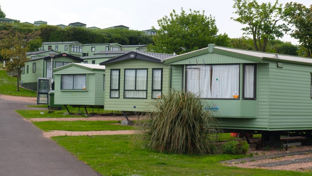 St Andrews Holiday Park: The resort pictured during lockdown.