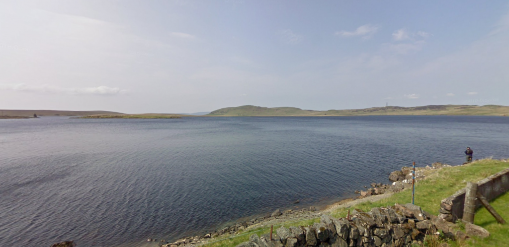 Scottish Water divers are working to clear the problem from the intake at Loch Thom.