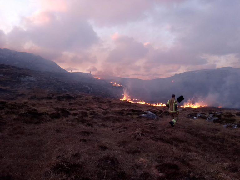 Wildfires in the Western Isles. SFRS