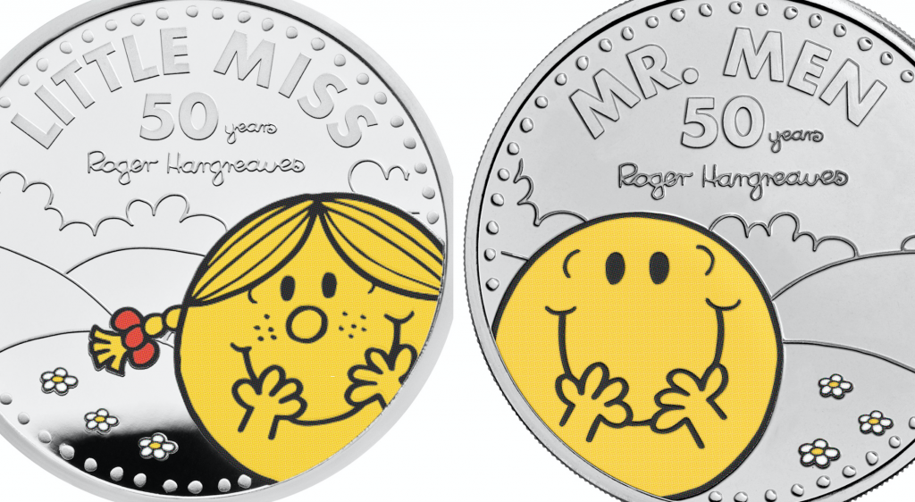 New coin collection celebrates 50 years of Mr Men and Little Miss characters.
