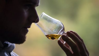 MBARGOED TO 0001 TUESDAY FEBRUARY 2 File photo dated 18/10/2019 of a 12-year-old Highland Single Malt whisky is tested in the tasting room at Deanston Distillery in Doune. Losses to Scotch whisky exports after tariffs were imposed by the United States have reached half a billion pounds, according to an industry body. Issue date: Tuesday February 2, 2021.