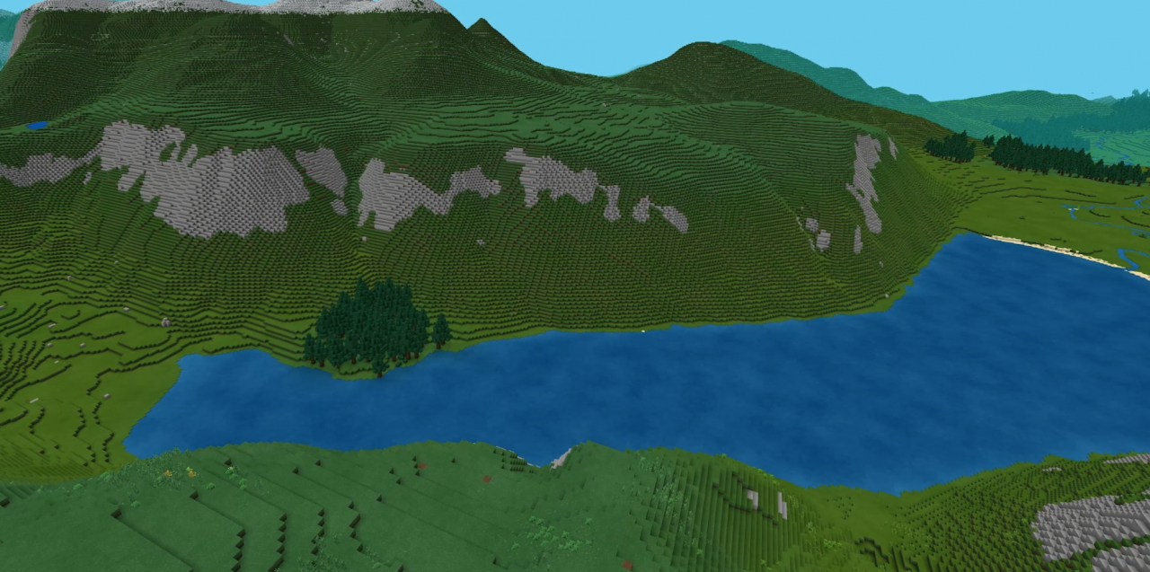 Cairngorms National park 26 Feb 2021 Cairngorms National Park gets the Minecraft treatment