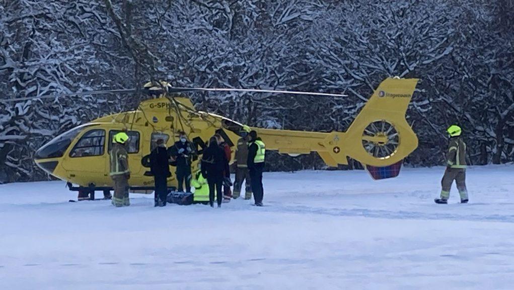 Air ambulance was deployed to assist injured boy at Banchory Golf Club.