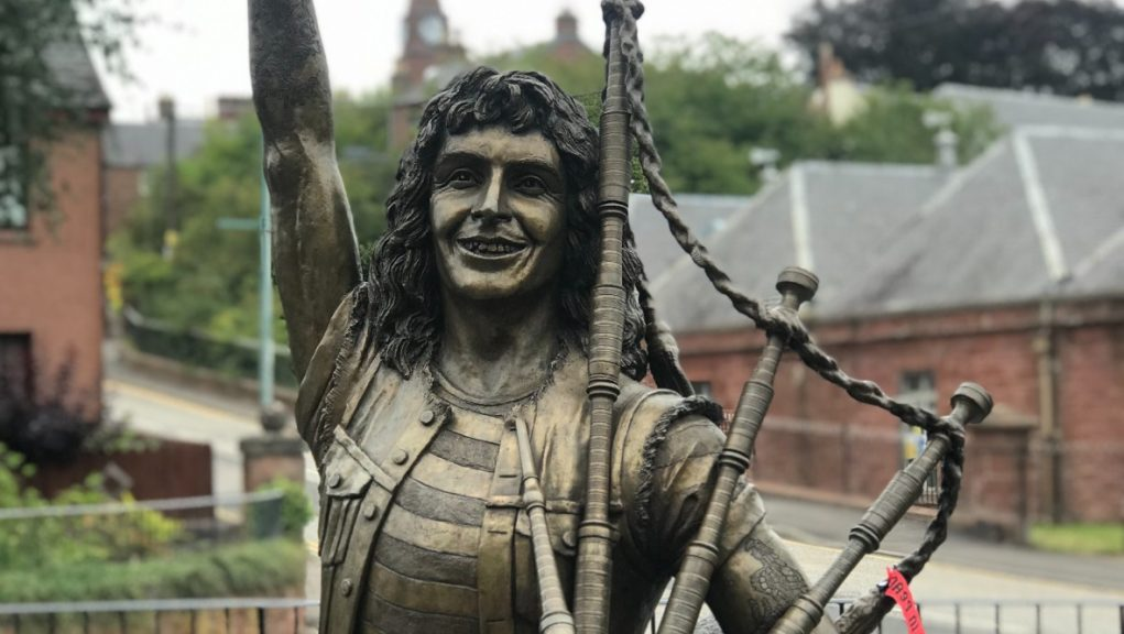 A statue of Bon Scott currently has pride of place in Kirriemuir.