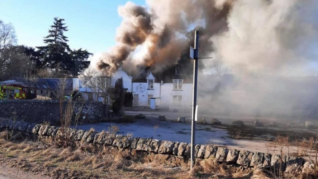 Hotel: Fireighters tackle blaze at former hotel.